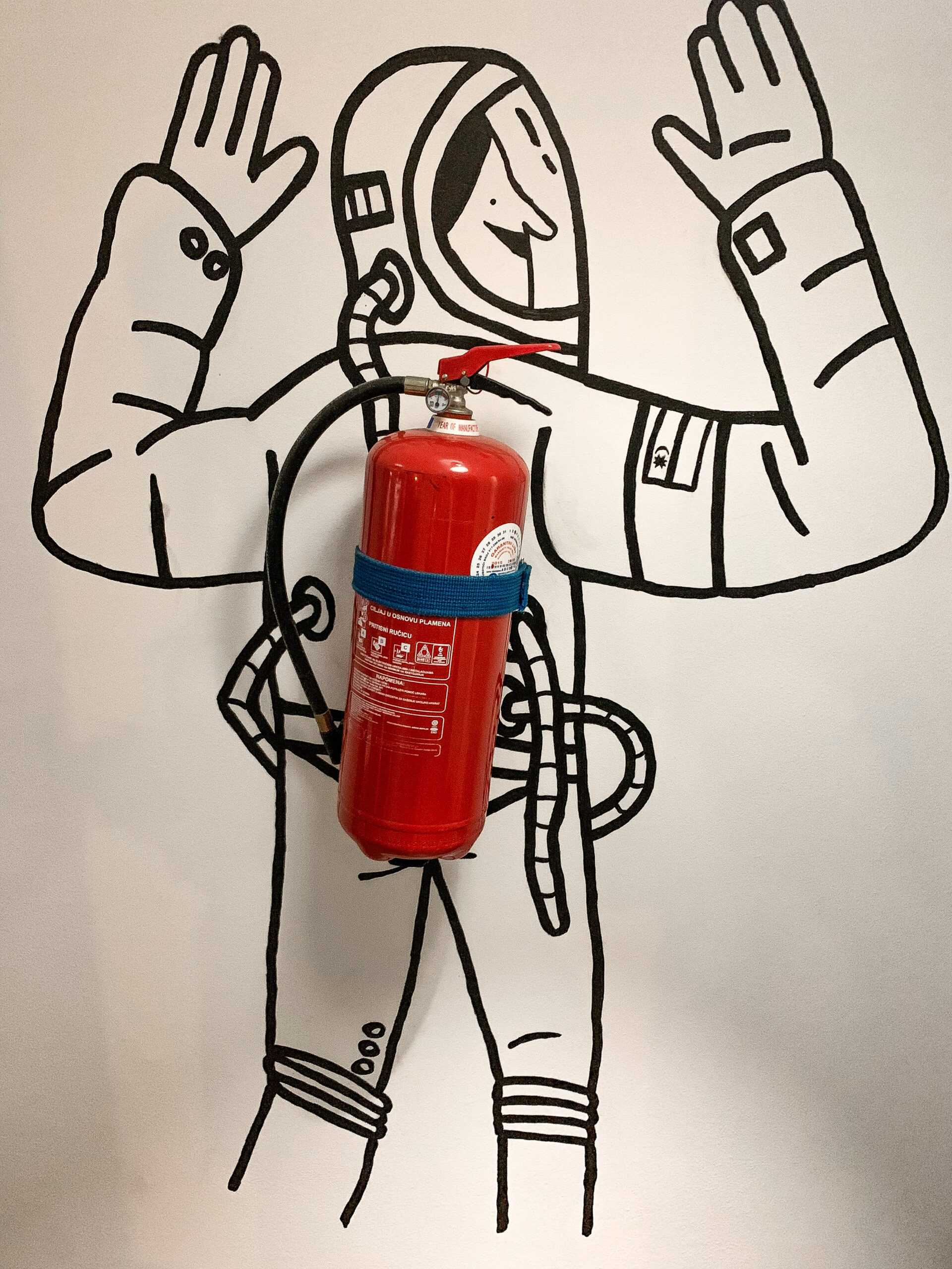 Astronaut sa PP aparatom